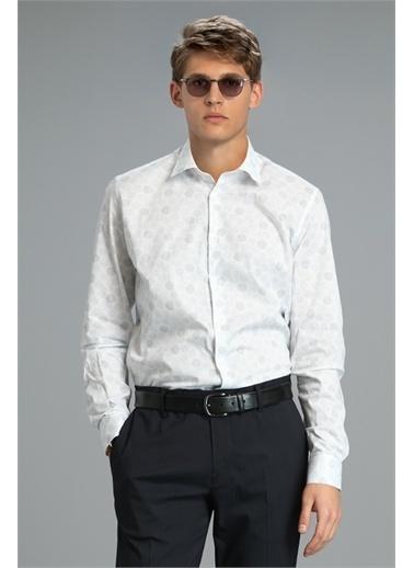 Lufian Rous Smart Gömlek Slim Fit Saks Saks